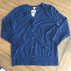 NWT Navy Cardigan